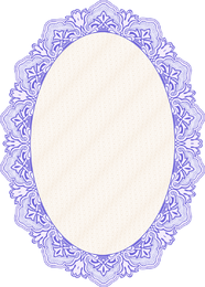 Oval mirror frame in blue