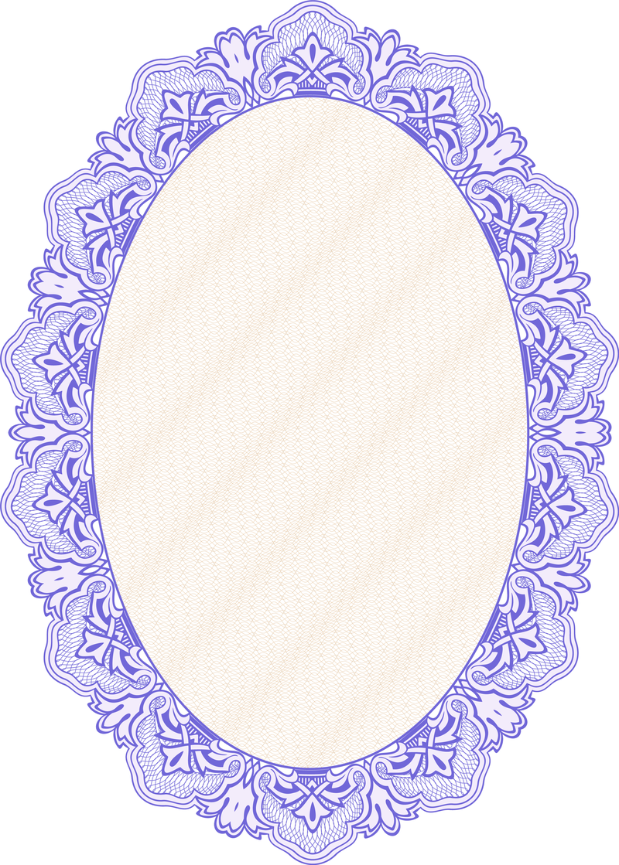 Marco del espejo oval en azul - Descargar vector