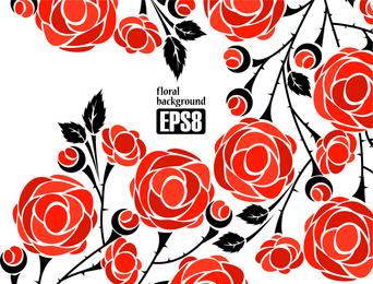 1 vector de rosas