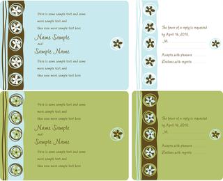 Hochzeits-Einladungs-Panel-Vektor