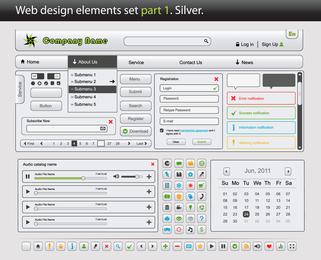 Web Design Elements Vector 1