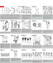 Tibetan Buddhist Symbols And Objects Map Of The Nine Weapons Vector