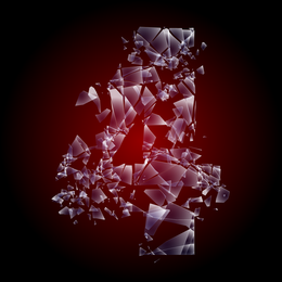 Vector de la palabra de vidrio roto