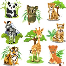 Vector de variedad de animales