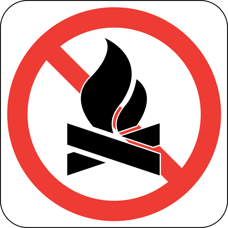 No Fire Sign Board Vector - Vector download