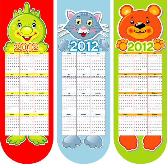Calendar 2012 Calendar 02 Vector