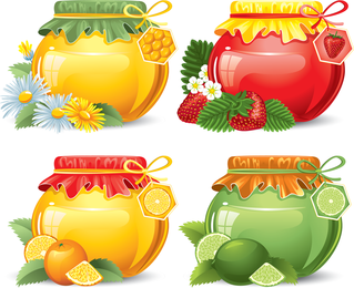 Food Jar 05 Vector