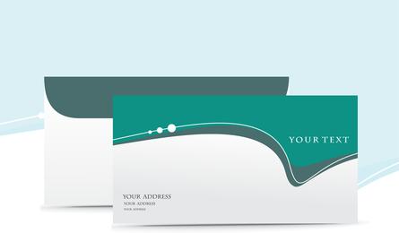 5 stilvoller schöner Umschlag-Vektor