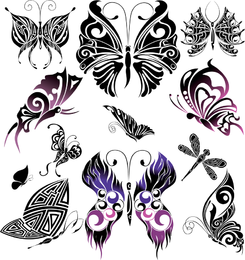 Beautiful Butterfly Totem Vector