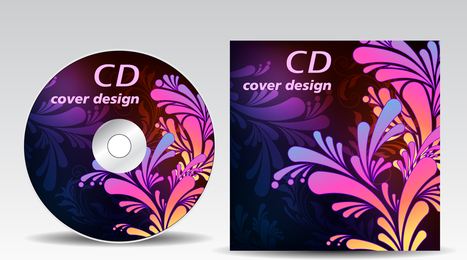 Attached Cdrom Disc Case 02 Vector