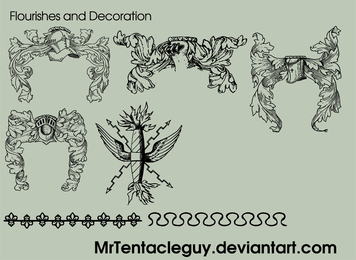 Flourishes And Decoration Free Vector