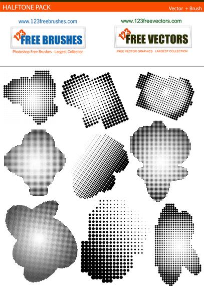 Pacote de desenhos de meio-tom