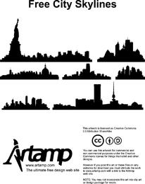 Skylines da cidade de vetor livre 2
