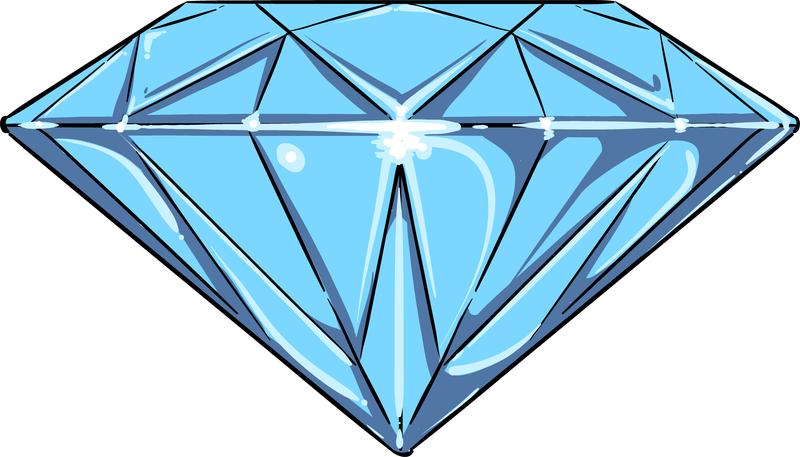 Aislado Dibujo Diamante Azul