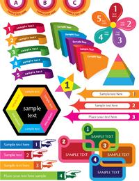 Coloridos gráficos decorativos vector 2