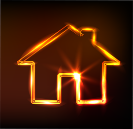 Glare Small House Vector