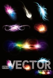 Lindo brilhante efeitos de iluminação 04 Vector