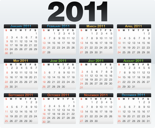 Beautiful 2011 Calendar Template Vector 4