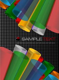 Tubo colorido vector