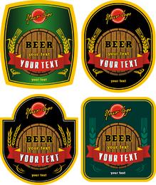Beer Bottle Stickers Vector