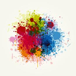Diseño de salpicaduras de colores