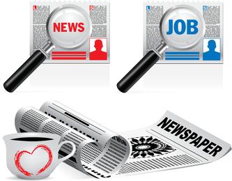 Ilustraciones vectoriales de periódicos