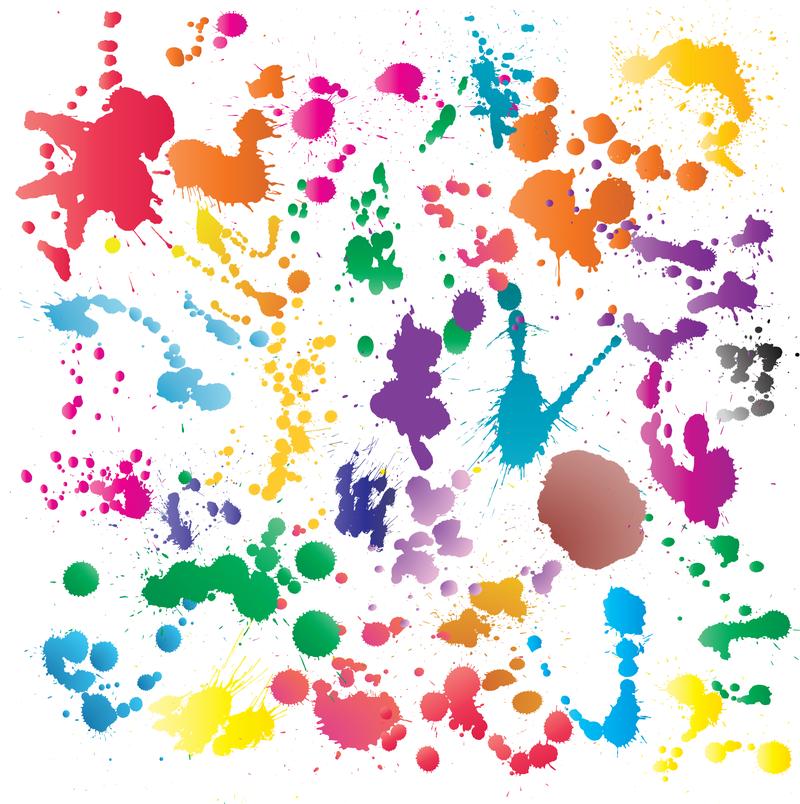 Sair Brush Splatters Paint