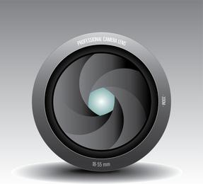 Lente de câmera 04 Vector