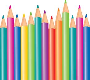 Lápices de colores vectoriales