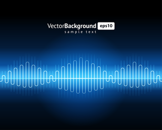 Dynamic Audio Waves 01 Vector