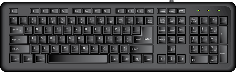 Vector Black Keyboard