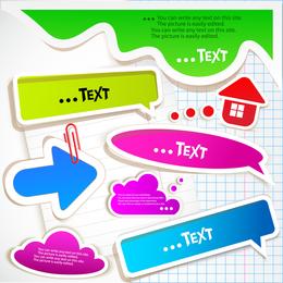 Bolhas de texto variadas