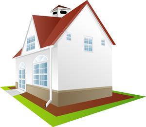 Material de vectores casas continentales