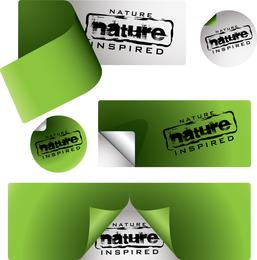 Vector Green Stickers