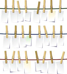 Clip de vector de madera blanca