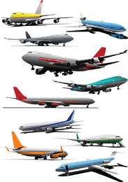 Vector de aviones de pasajeros