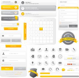 Webdesign-Navigationsmenü 01 Vektor