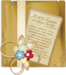 Beautiful Retro Bookmark 04 Vector