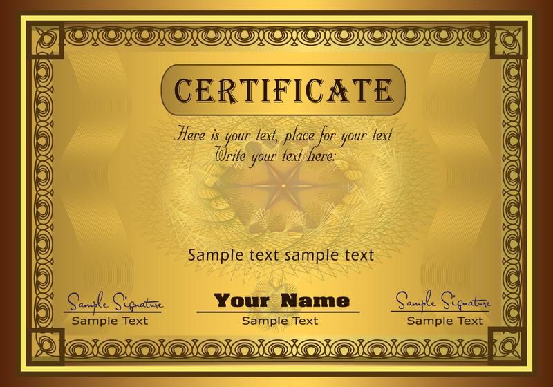 Plantilla de certificado Diploma magnífico 02 del vector - Descargar ...