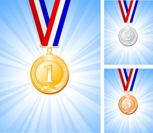Conjunto de 3 medallas de diseño.
