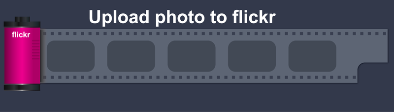 Free Vector Flickr Photo Button Button