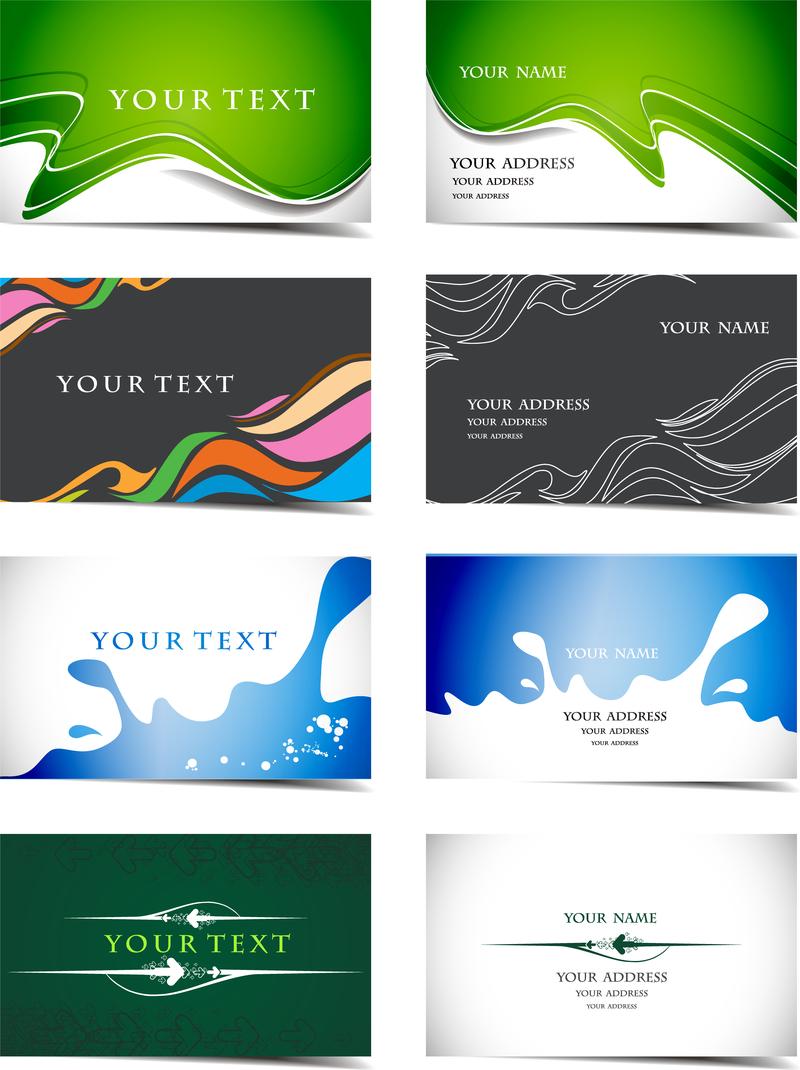 128557496d3f7 24 hermosas y prácticas plantillas de tarjetas de visita de vectores ...