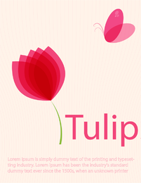 Vector de tulipanes
