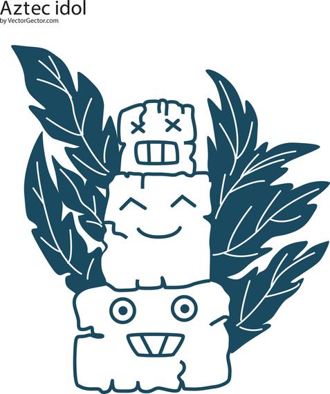Ídolo azteca vector