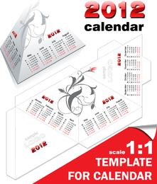 2012 Calendar Desk Calendar Model 05 Vector