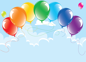 Balões 07 Vector