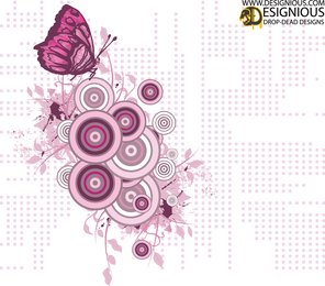 Girly Butterfly Vector Illustration
