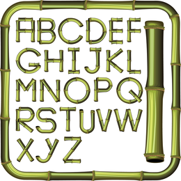 Bamboo Creative Letters 01 Vector