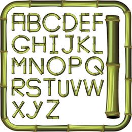 Vektor des kreativen Bambusbuchstaben 01