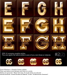Starry Art Letters 01 Vector